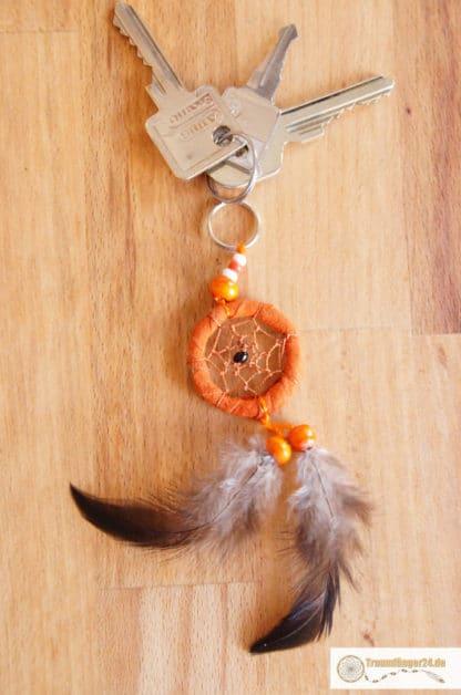 Traumfänger Schlüsselanhänger Ayasha orange