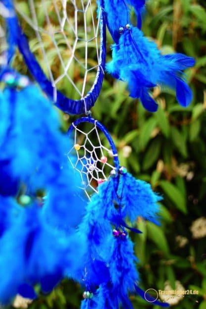 Traumfänger Metallic blau Details